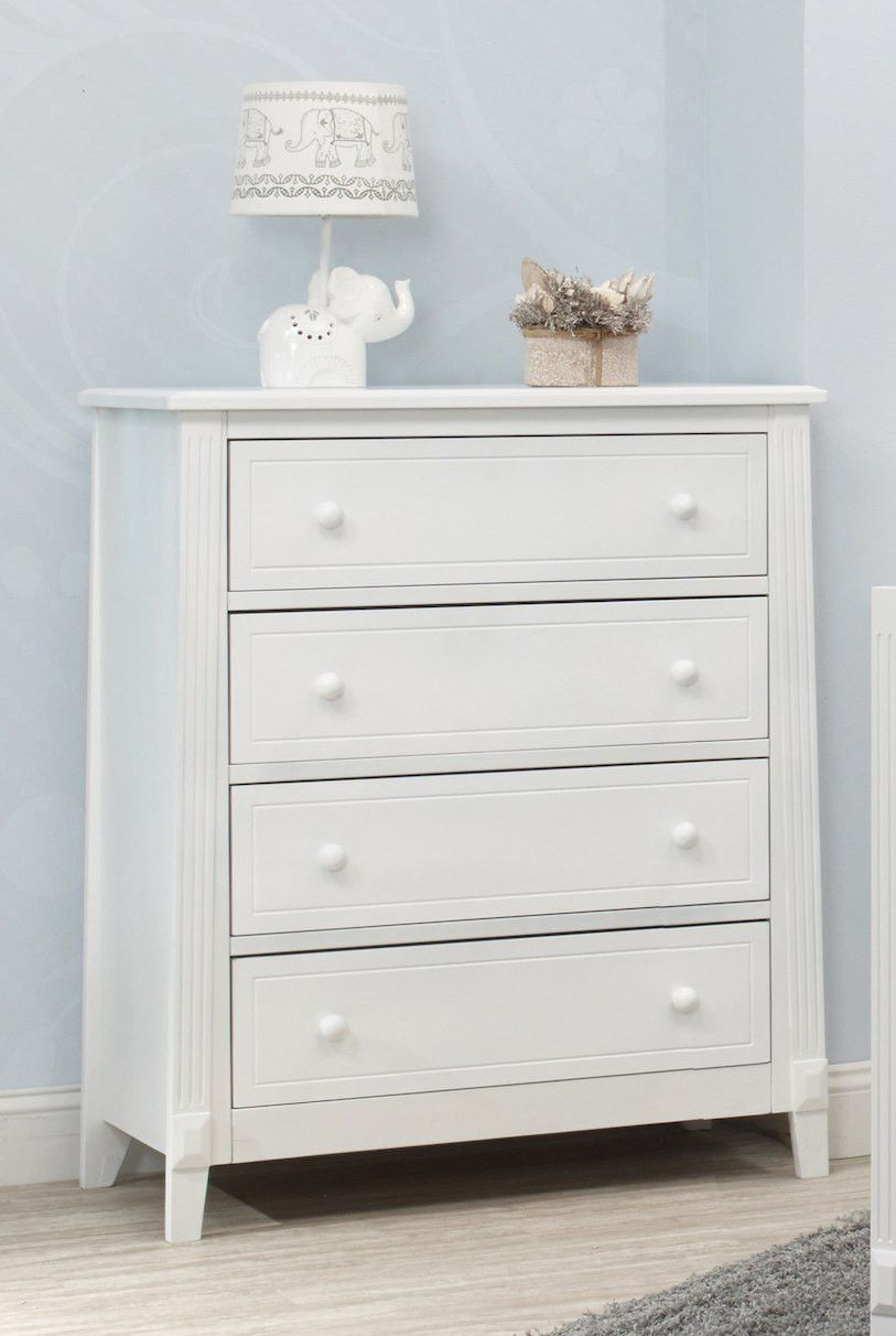 Sorelle Berkley 4 Drawer Dresser Rta In White