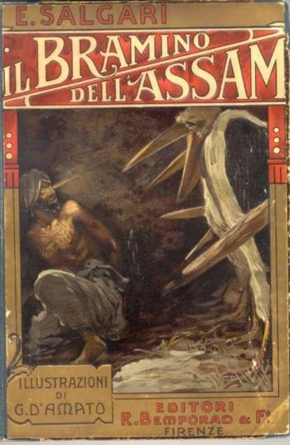 Il Bramino dell'Assam, 1911   Copertina di Gennaro Amato / (The Brahmins of Assam, 1911-Cover of Gennaro Amato)