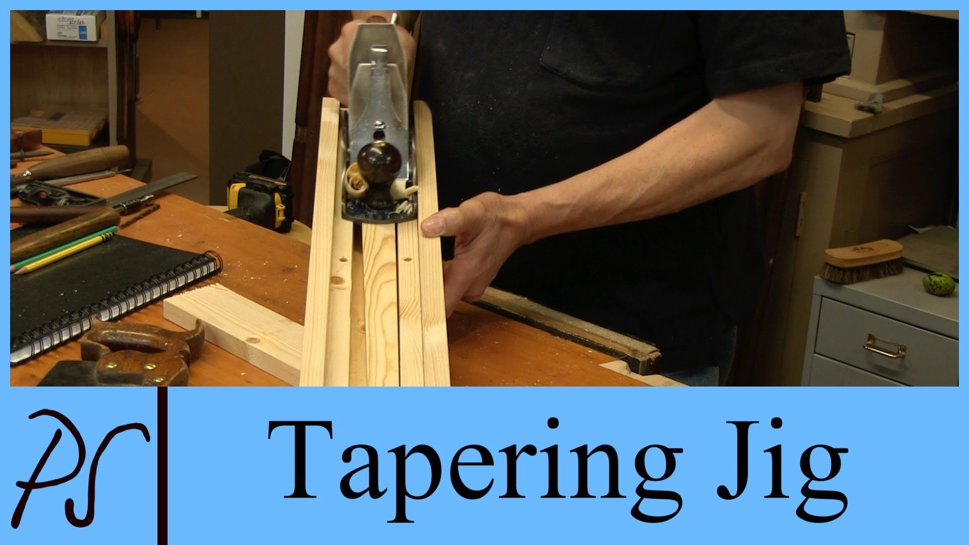 Making A Tapering Jig With Paul Sellers Woodworking Jig Diy Projects Engineering