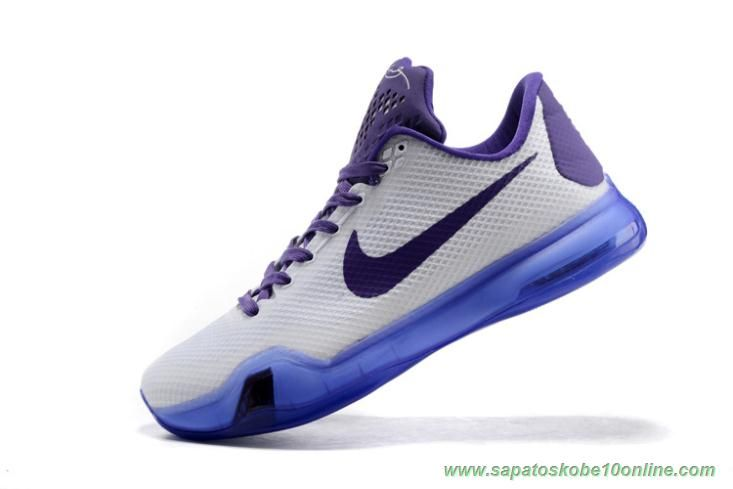 buy online 2ef85 dce17 sites de lojas de tenis Kobe Bryant Nike Kobe X Branco Roxo