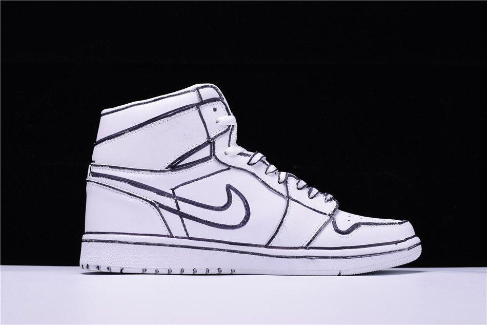 Joshua Vides x Air Jordan 1 White Black