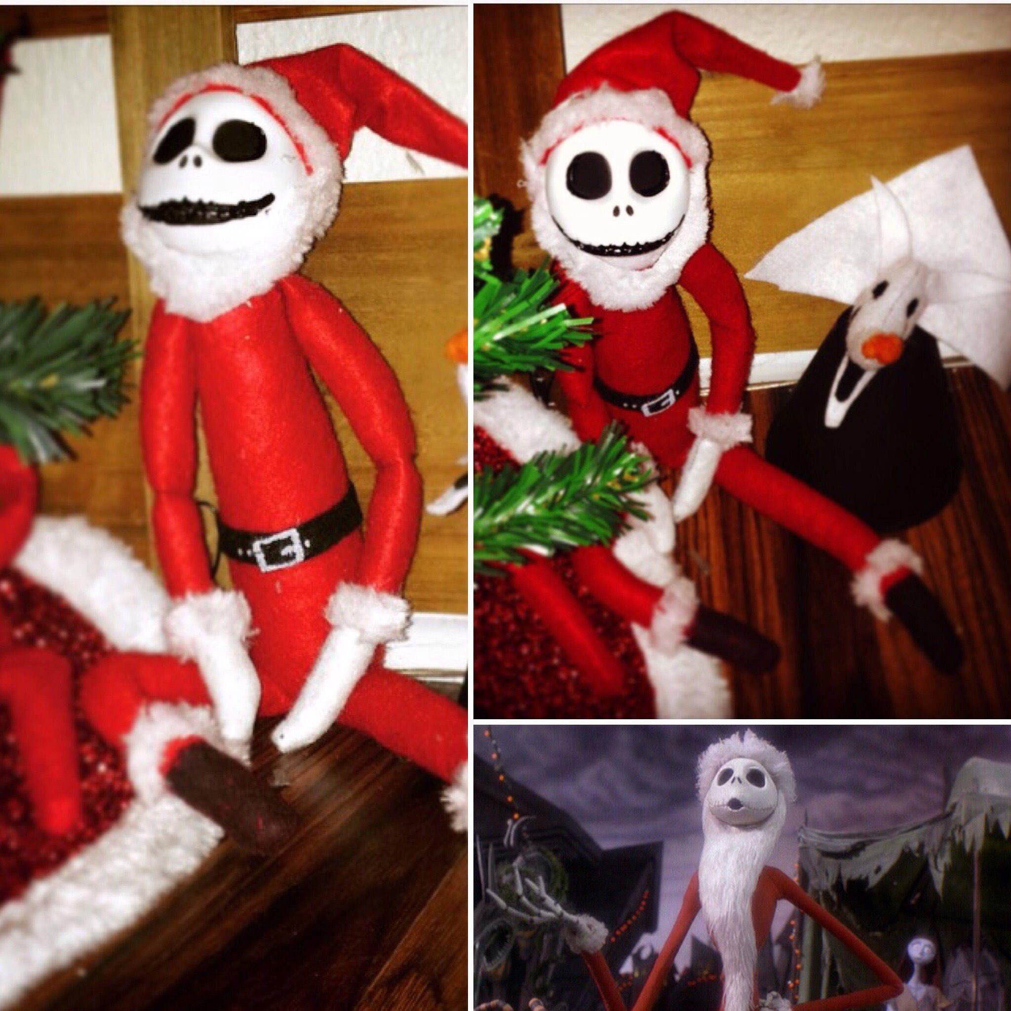 Jack Skellington Elf on a Shelf Doll Sandy Claws Nightmare Before ...
