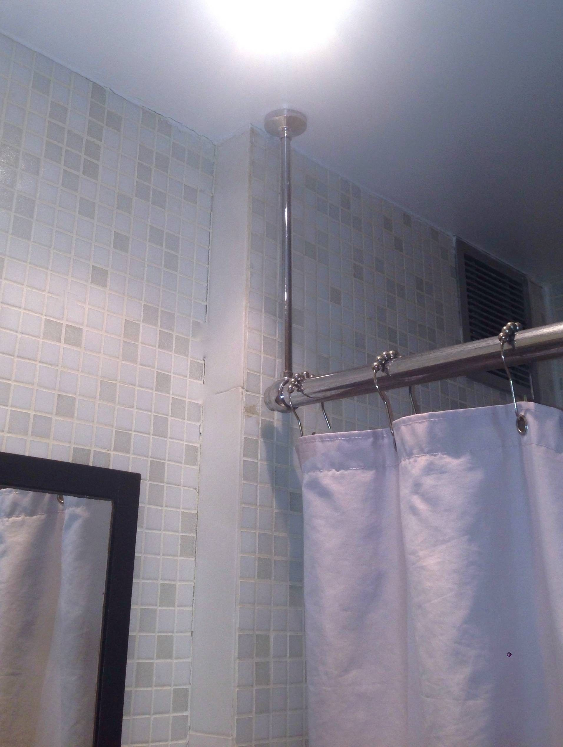 Unique Ceiling Shower Curtain Rod Hangingcurtains Hanging