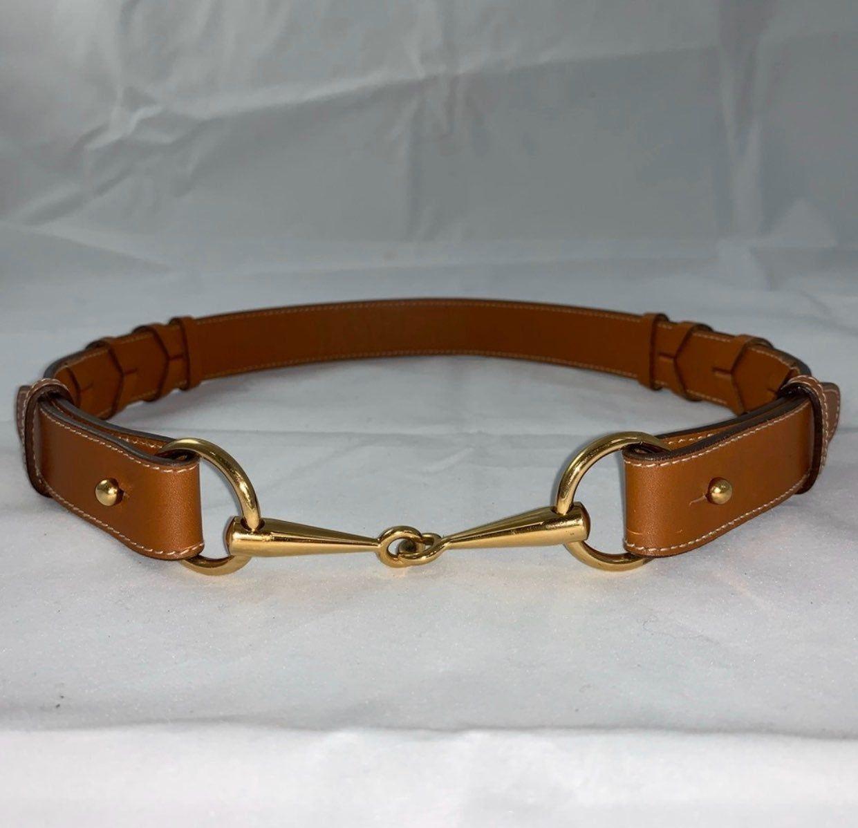 Authentic gucci horsebit buckle belt in cognac fits a