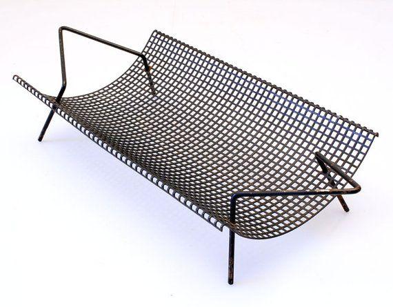 Mategot style Tomado sixties metal fruit tray, Eames, Pilastro, Fifties, mathieu…