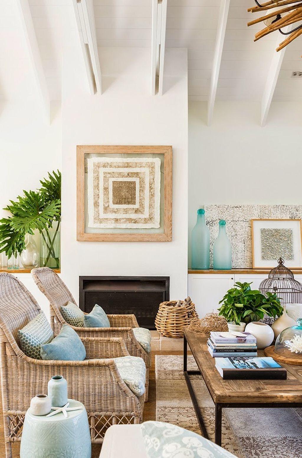 modern coastal living room interior ideas 63 | coastal