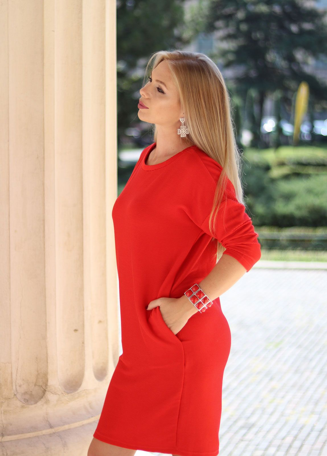 Red dress bonprix me and my style pinterest