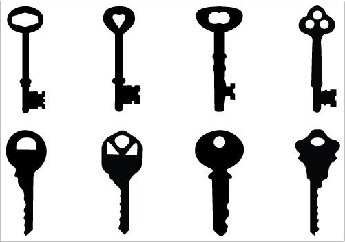 Keys Silhouette Clip Art Pack Silhouette Clip Art Clip Art Silhouette Vector