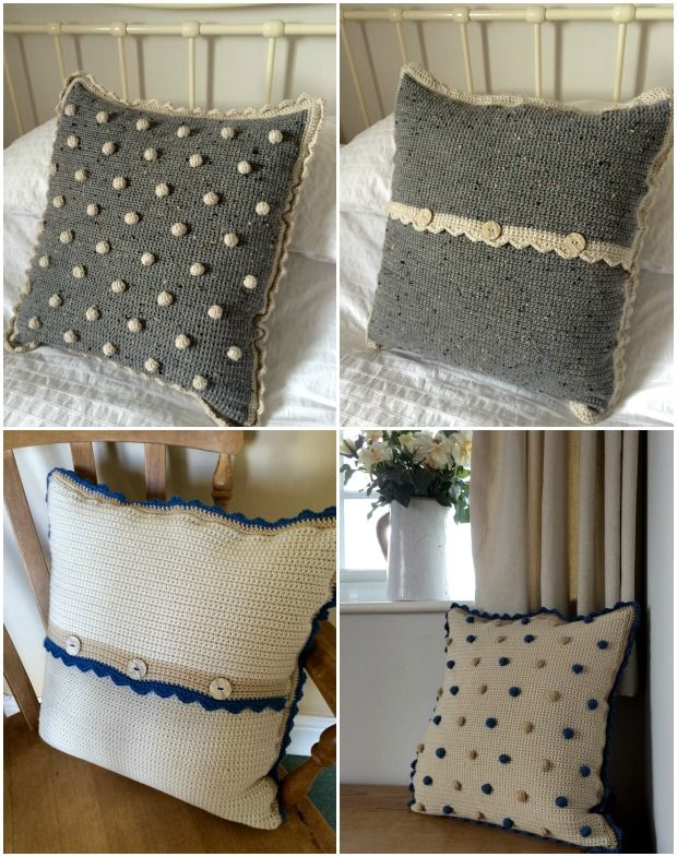 Crochet with Kate: Beautiful Bobble Cushion | Modelo, Blog y Tejido