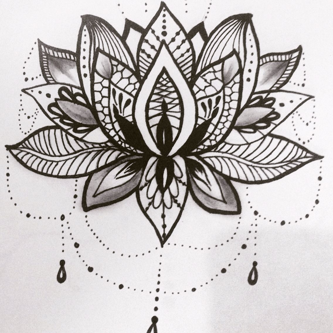 Lotus flower tattoo - Lotus Flower Tattoo Design
