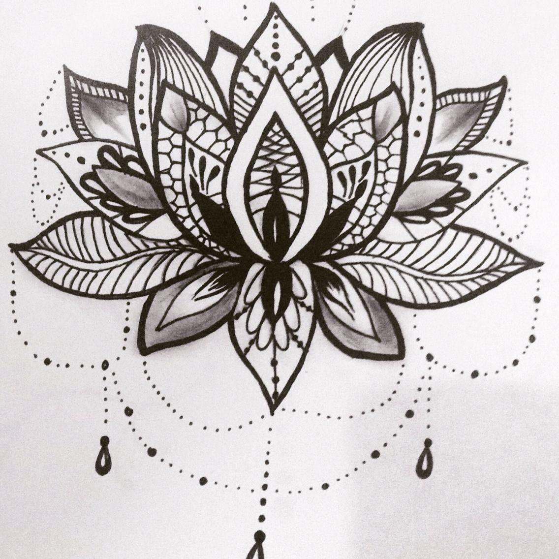 Lotus flower tattoo design tatouages pinterest tatouages - Fleur de lotus mandala ...