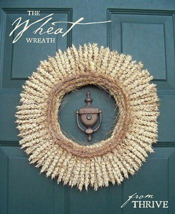 Fall Wheat Wreath. So simple & elegant.
