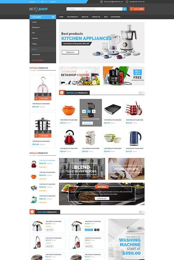 Betashop - Kitchen Appliances Prestashop Theme | Betashop - Kitchen ...