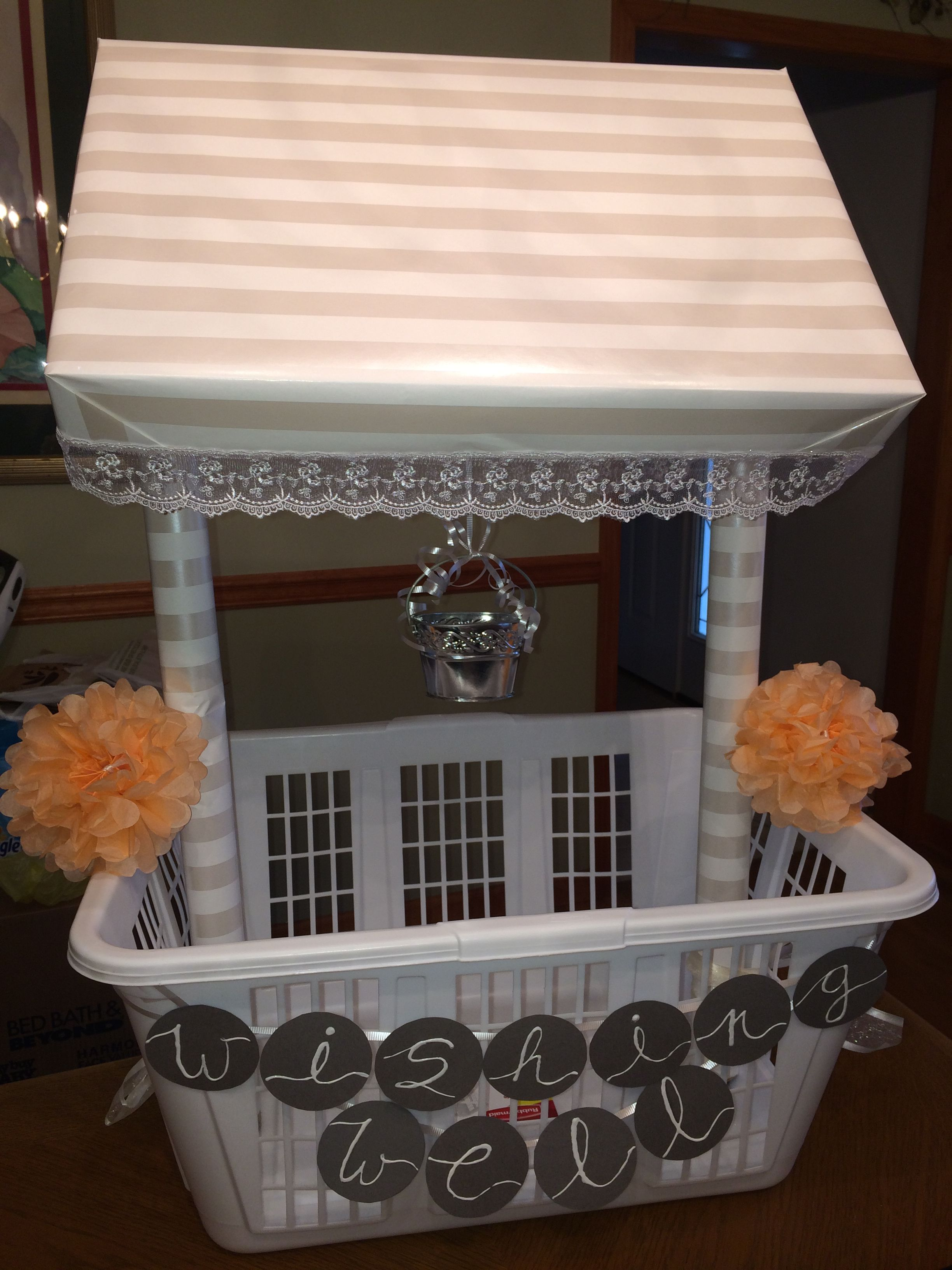 Wishing Well\' I made for my cousin\'s shower! - Buy a laundry ...