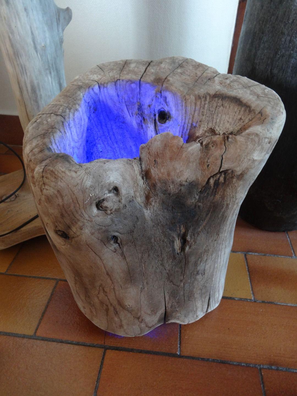 Bois Flotté Pour Pergola très belle lampe d'ambiance en bois flotté | bois flotté