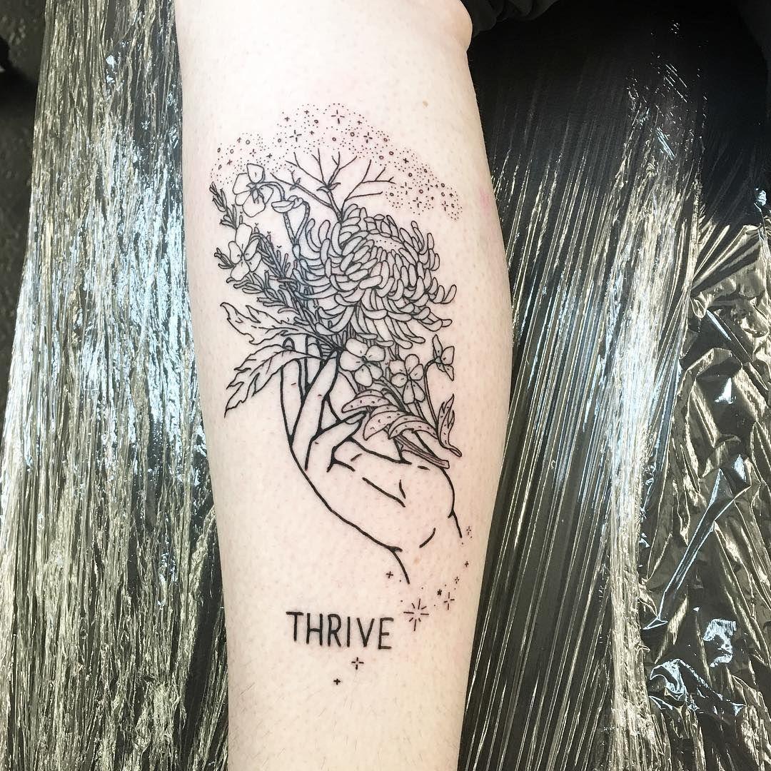 Grow, bloom, thrive! Thanks Jo Female tattoo artists