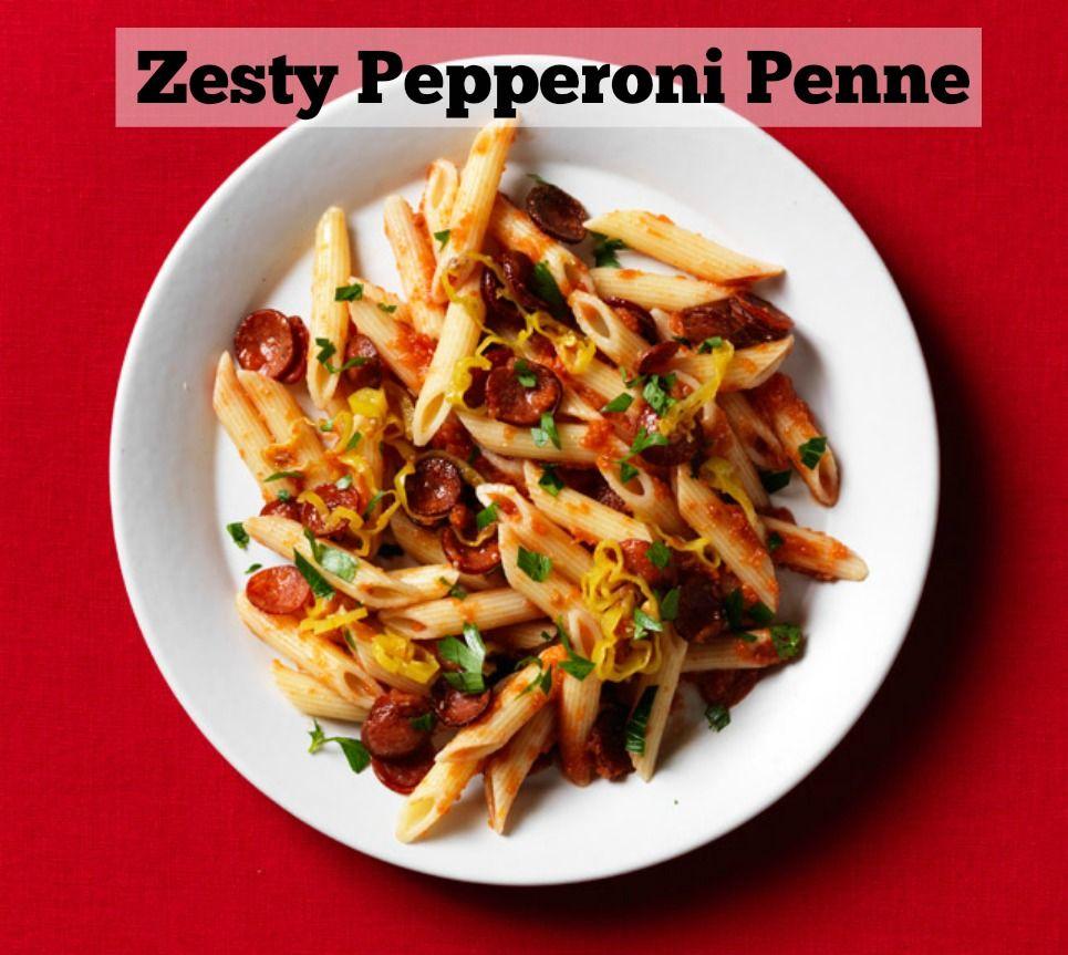 Zesty Pepperoni Penne