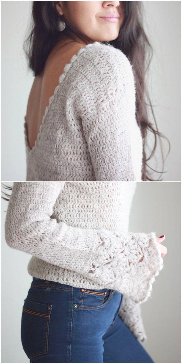 Valentina Sweater Top Crochet - evtl. anderes Muster   häkeln!?