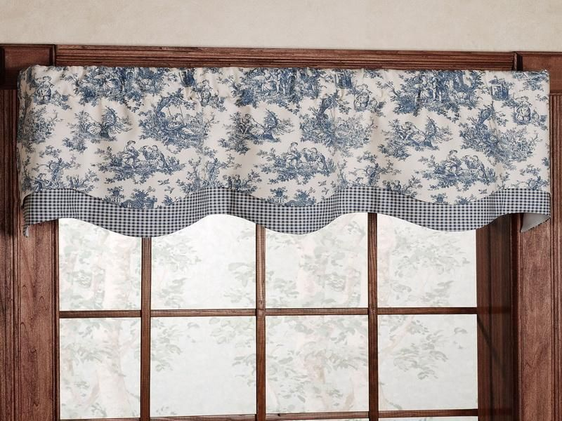 Blue And Gray Kitchen Curtains