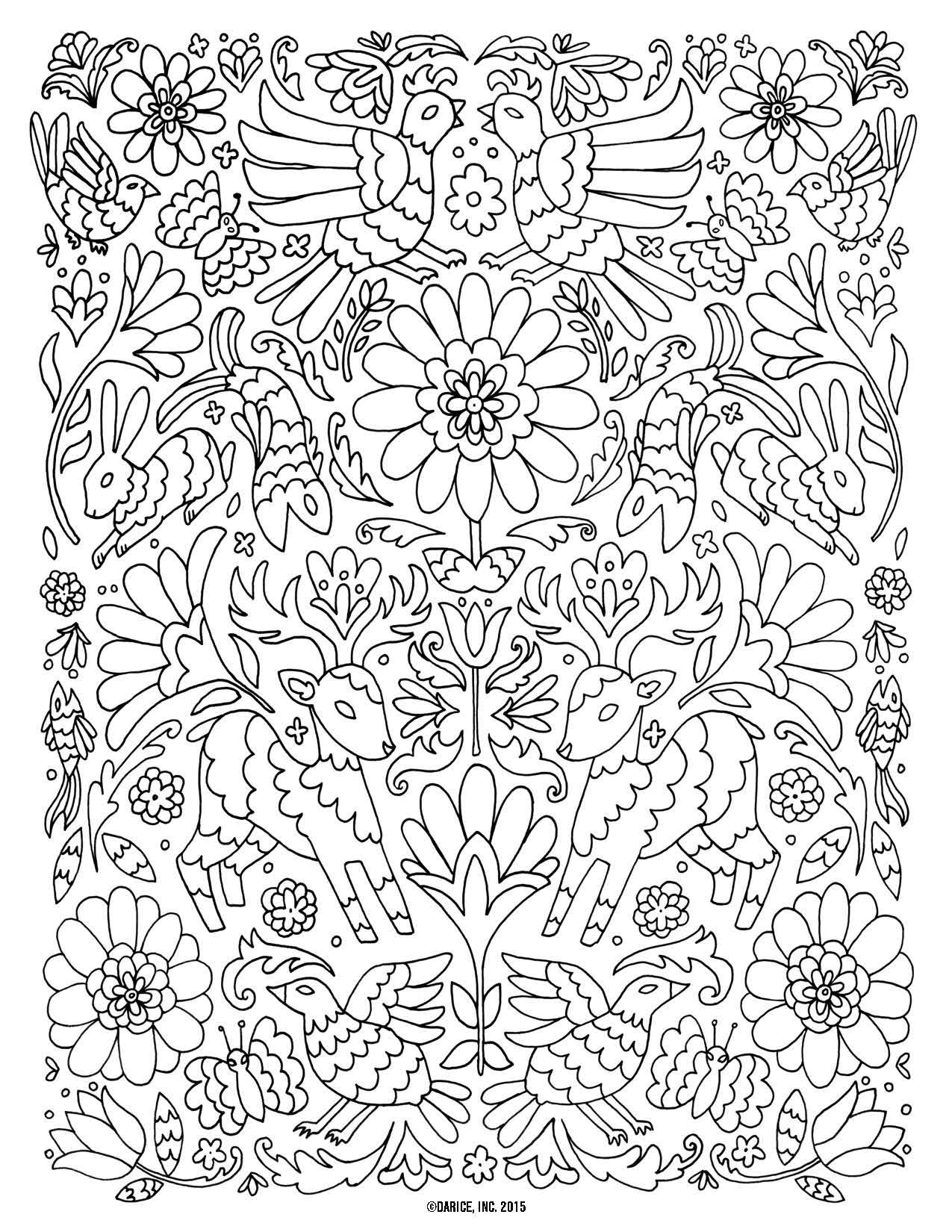 Printable coloring pages for adults flowers - Try Out The Adult Coloring Book Trend For Yourself With Our 9 Free Adult Coloring Pages