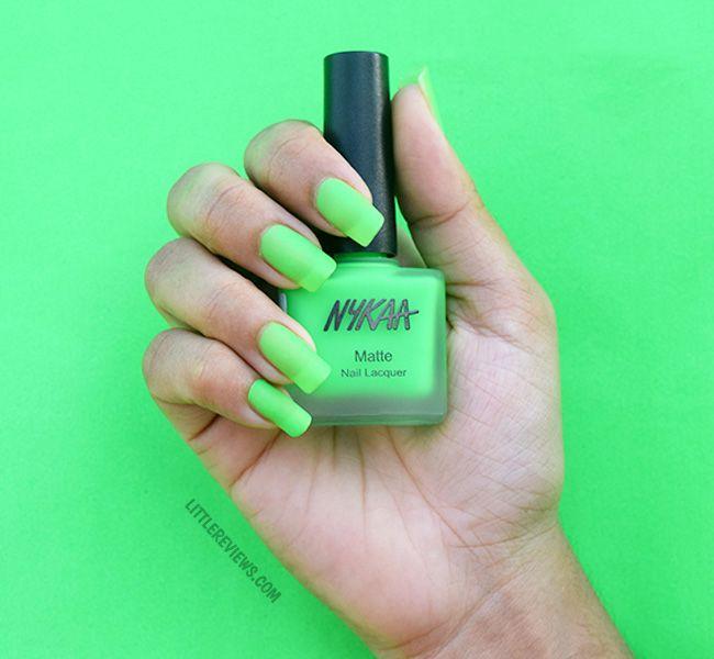 Nykaa Neon Matte Nail Enamel Review | Matte nails, Neon and Matte ...