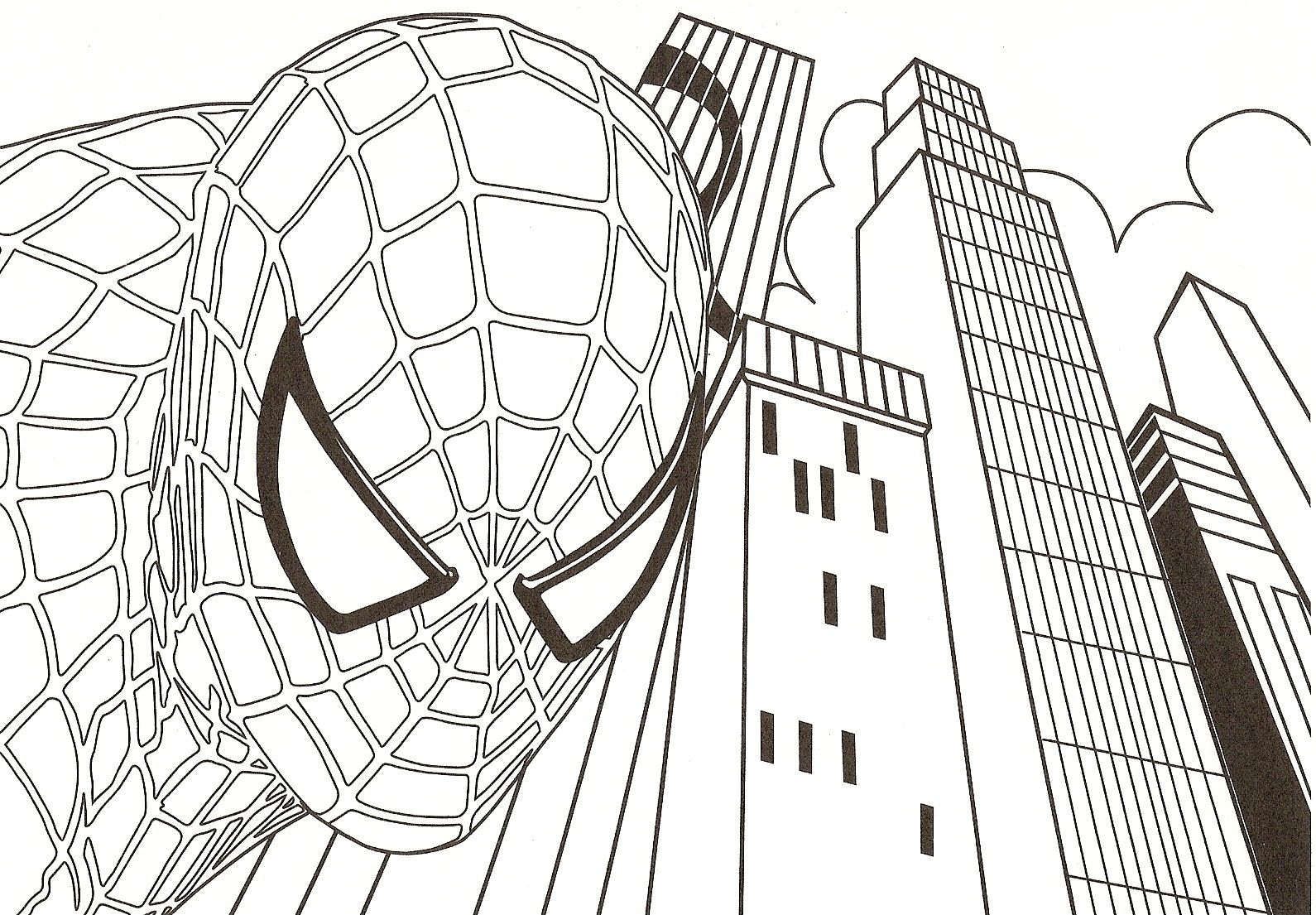 spiderman+coloring+pictures.jpg (1590×1105) | Coloring - Young/Teen ...