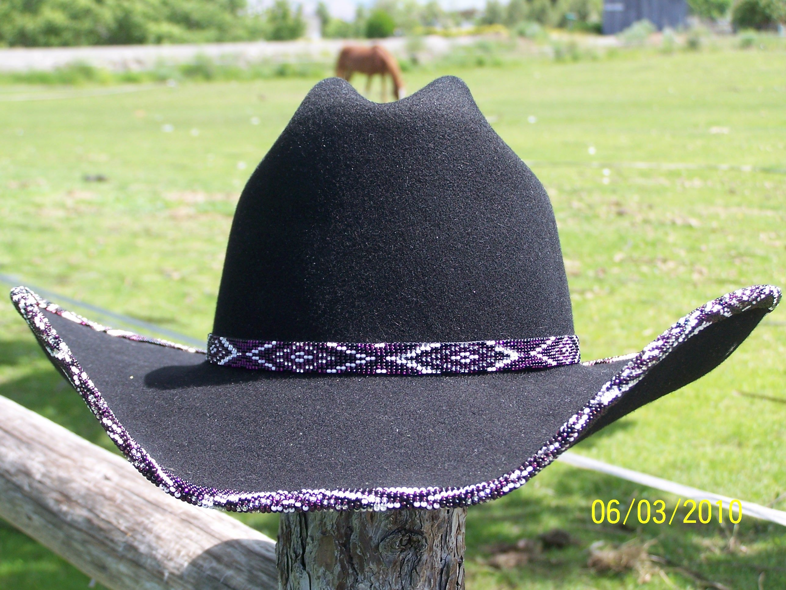 37ad4ec97f1 sead beaded cowboy hat and hat band