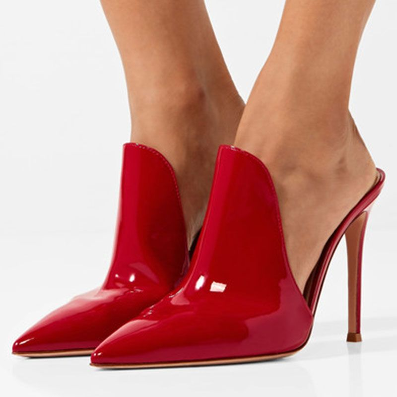 Shoespie Red Slip-On Pointed Closed Toe