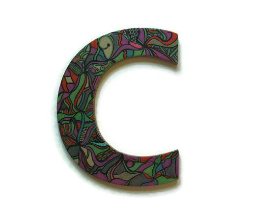 Letter C Wall Hanging Extraordinary Initial C Wall Hanging Letter C Initialurbanindependence Inspiration Design