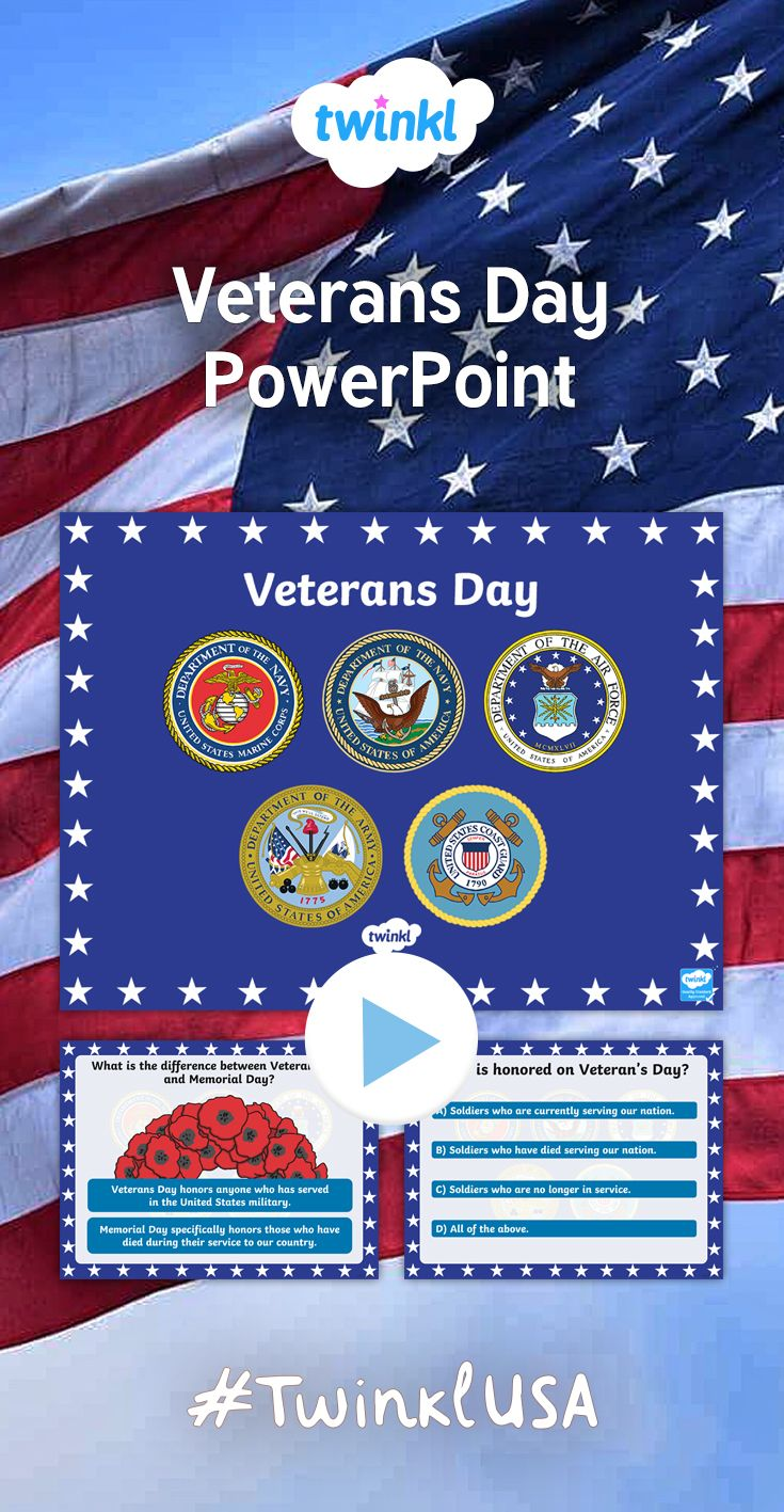 this veterans day powerpoint explores the origin and importance of, Powerpoint templates