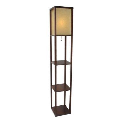 Lighting Ideas Target Shelf Floor Lamp With Paper Shade Walnut Image Zoom Floor Lamp With Shelves Shelf Lamp Floor Lamp