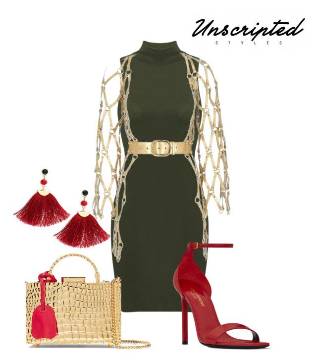"""""""Gold Plated"""" by unscriptedstyles on Polyvore featuring Zana Bayne, Mark Cross, Shashi and Yves Saint Laurent"""