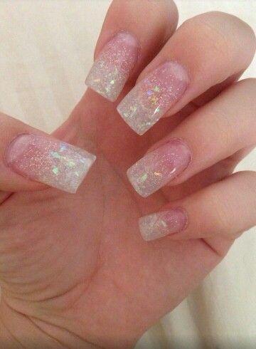 glitter fade acrylic nails  glitter nails acrylic