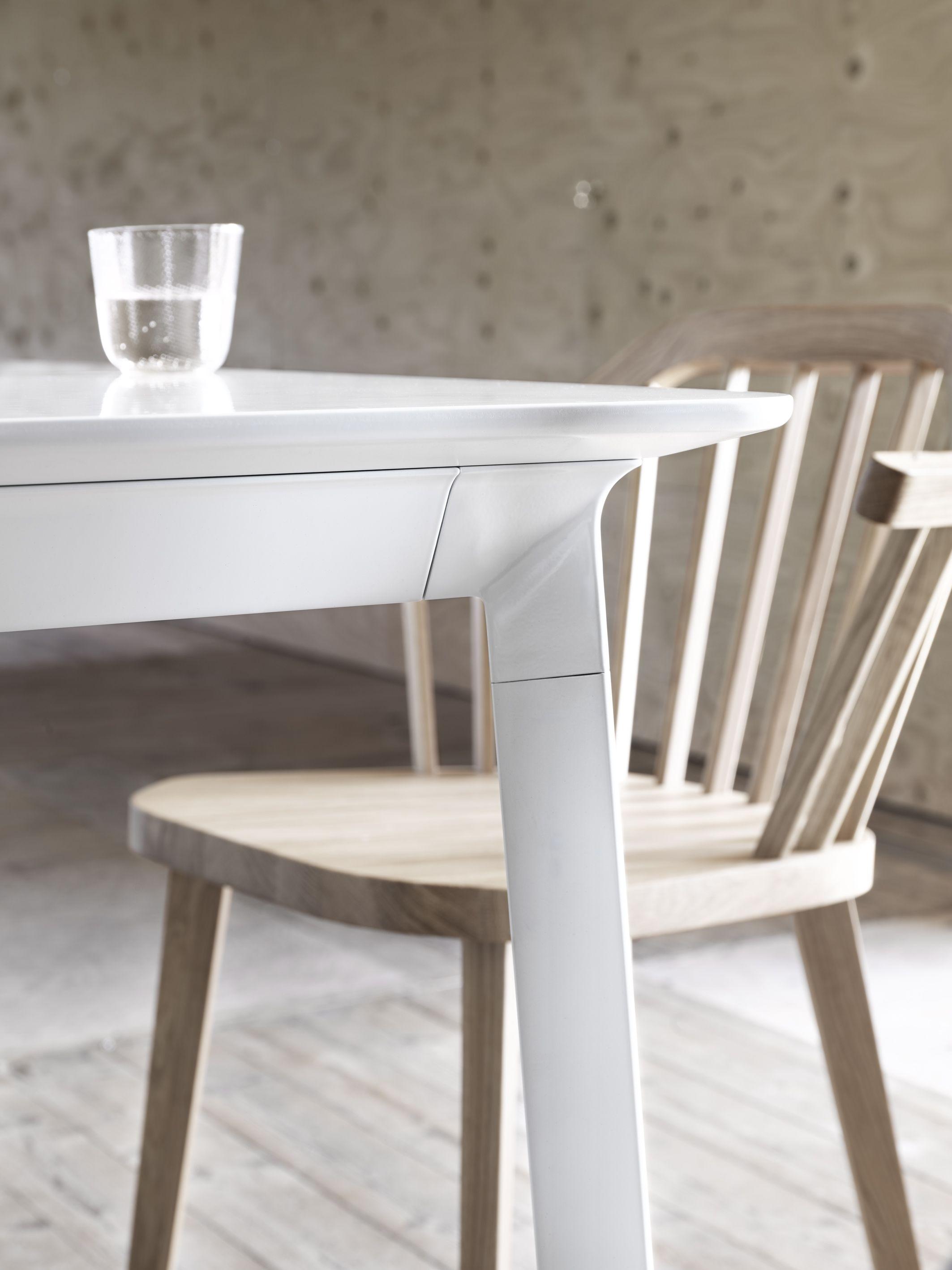 Modulor table and Stick armchair Design Claesson