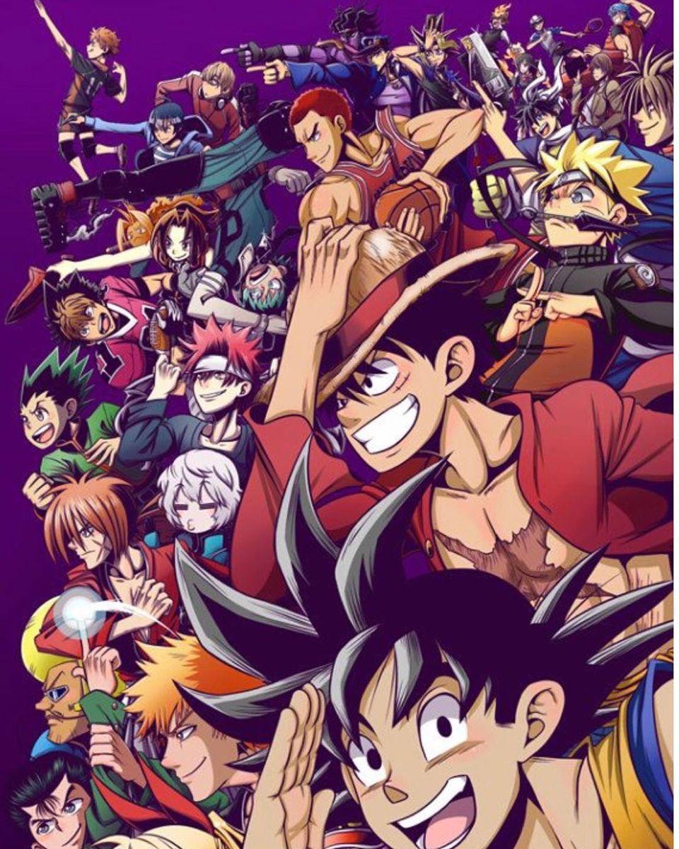Pin De Mohammed S R Em Anime Anime Crossover De Animes Esbocos De Cartoons All anime together wallpaper