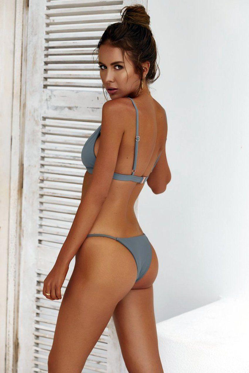 24feab668a5 HolaSukey Micro Bikinis Sexy Solid Bikini Set 2018 New Women Swimsuits  Brazilian BC309
