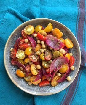 Salade de pois chiche tomate citron confit