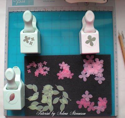 Selmas stamping corner and floral designs tutorial on making selmas stamping corner and floral designs tutorial on making punched vellum flowers mightylinksfo