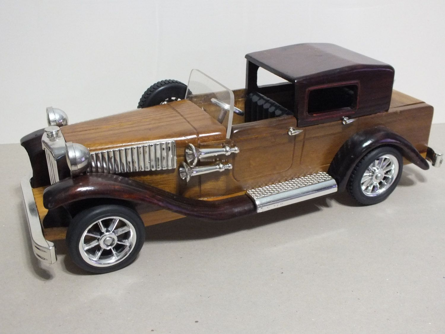 Old model replica vintage car custom large wooden collectible ...