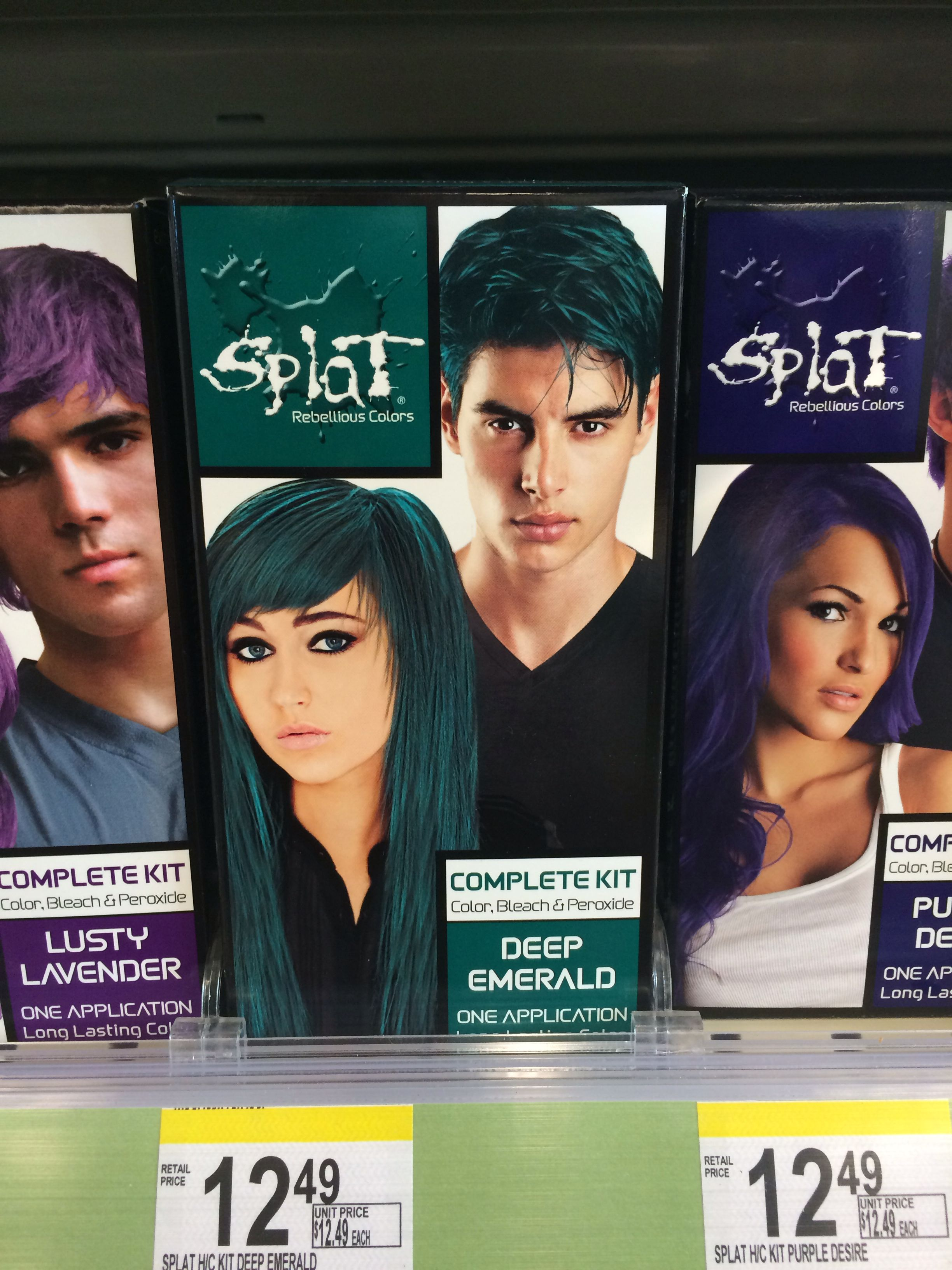 Splat Rebellious Colors Hair Coloring Complete Kit Deep Emerald 1 Ea Pack Of 4 This Is An Amazon Affiliate Splat Hair Dye Hair Color Permanent Hair Color