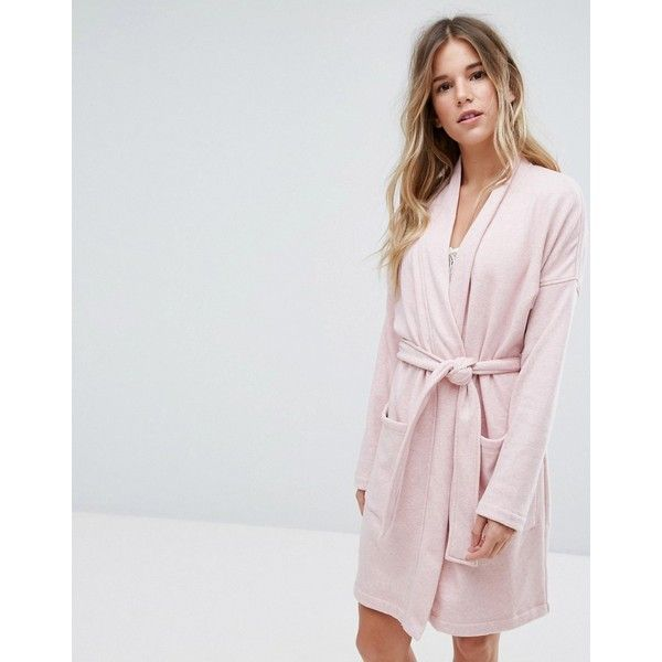 Ugg Braelyn Double Knit Fleece Dressing Gown (€105) ❤ liked on Polyvore  featuring intimates 5ad310182