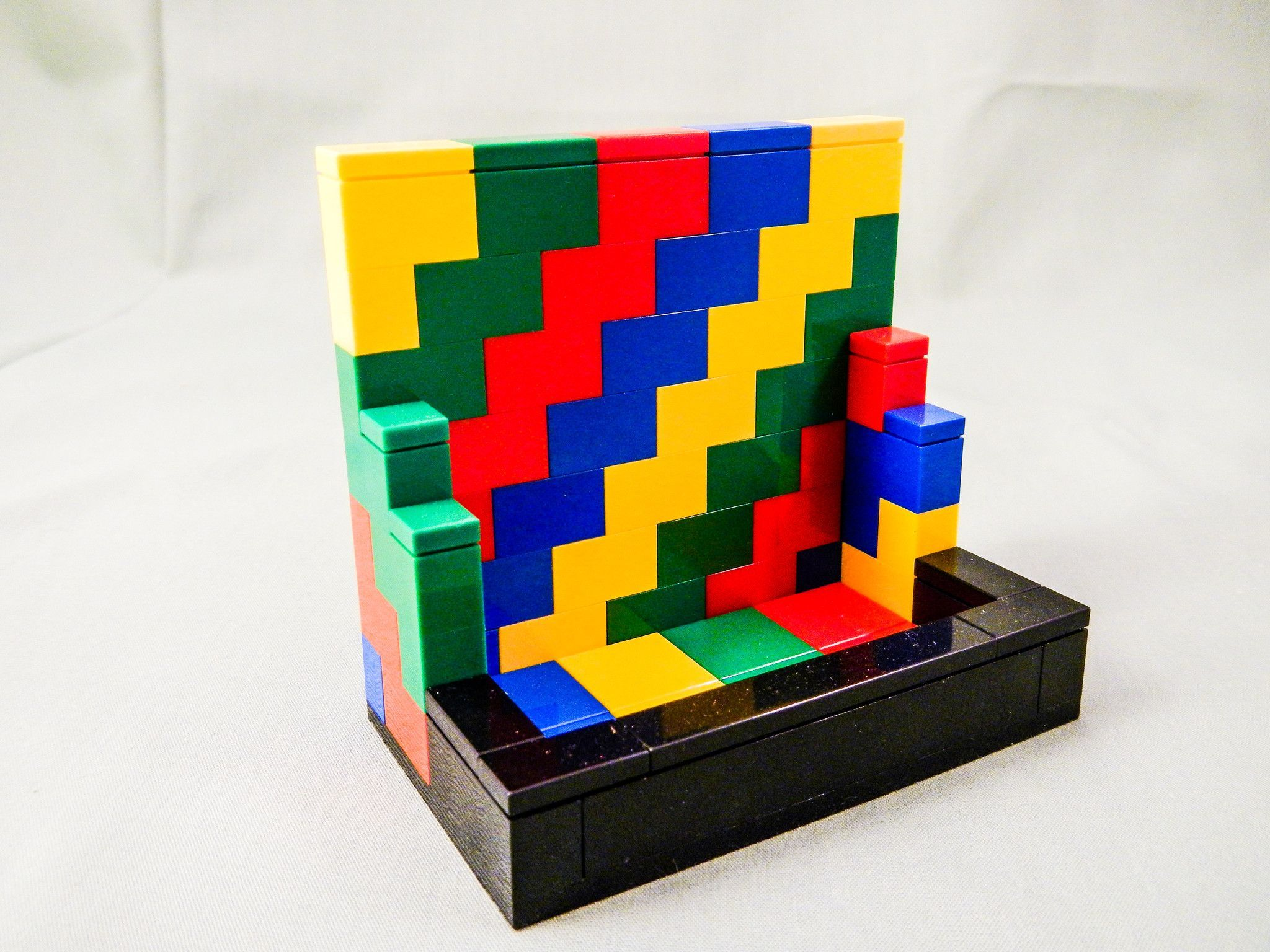 Multicolored Business Card Holder LEGO (R) Vertical Orientation ...