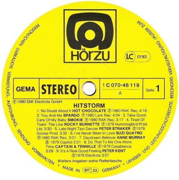 Various - Hitstorm GER 1980 Lp near mint Quatro Peter Griffin