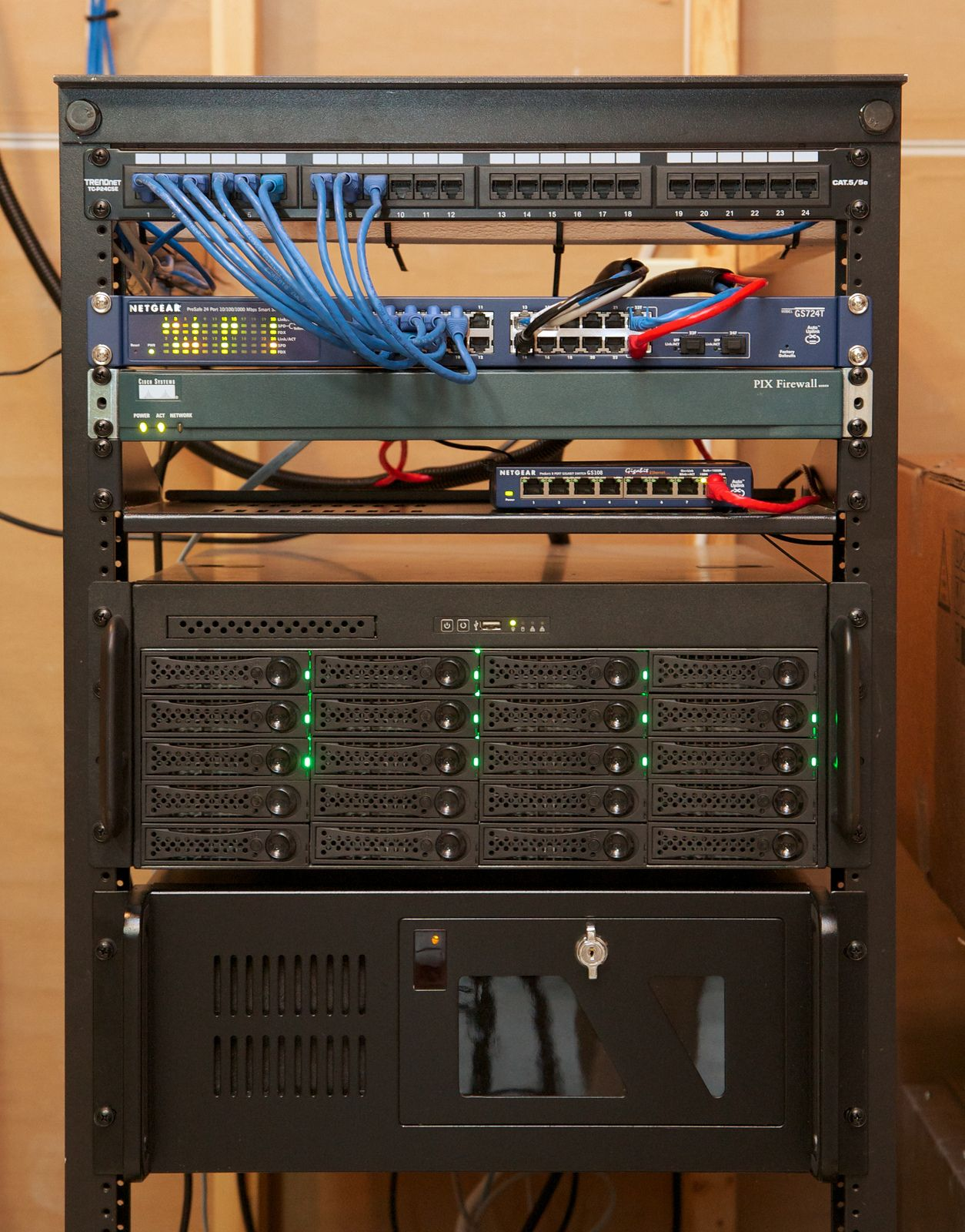 Home Office Rack Home Network Network Rack Server Room