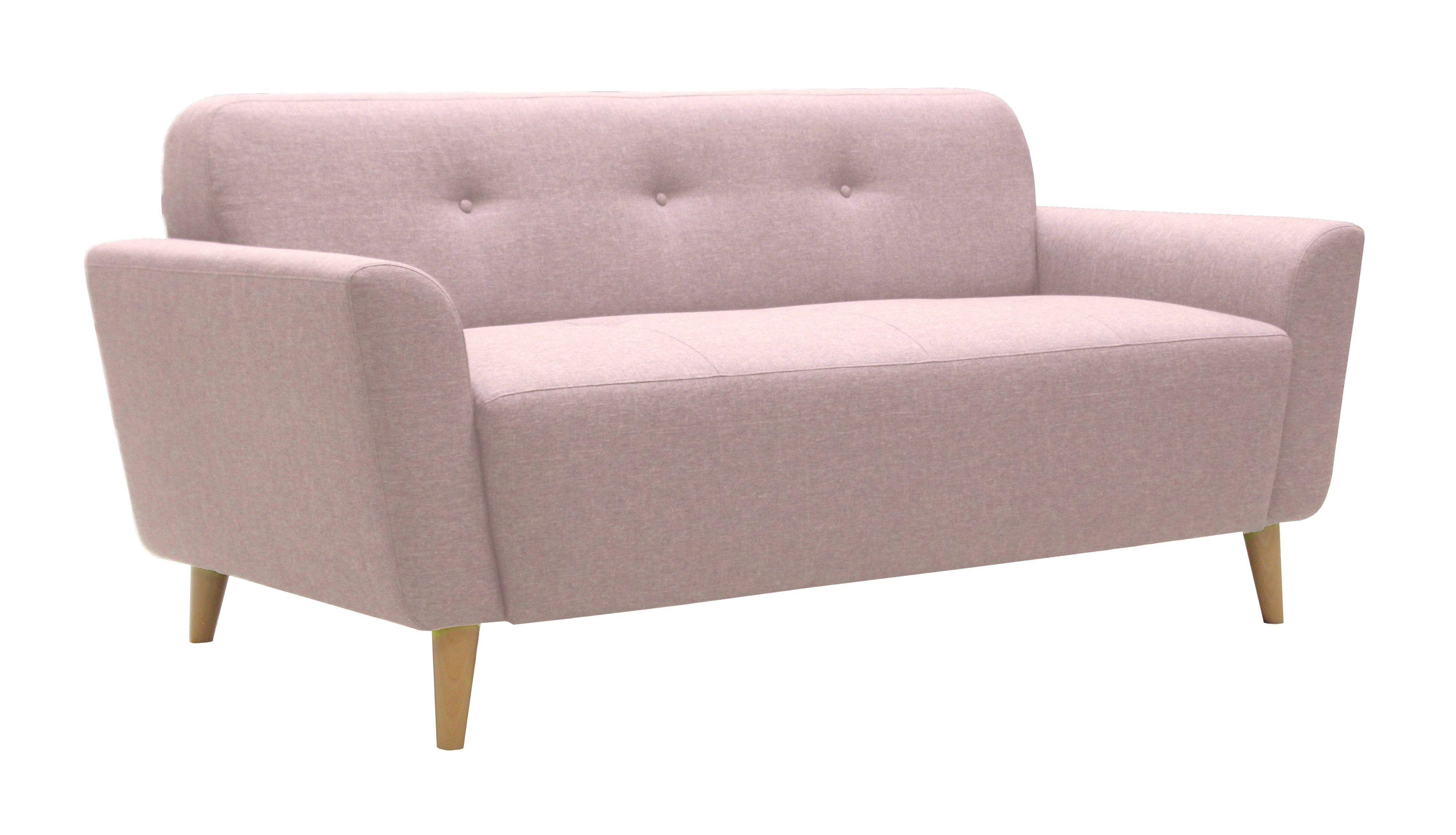 magasin en ligne 1a928 494f2 Canapé 2 places scandinave KINOA Tissu rose | Inspiration au ...