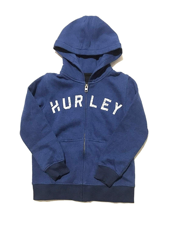 Hurley Boys Zip-up Hoodie Lyon Blue Size 6