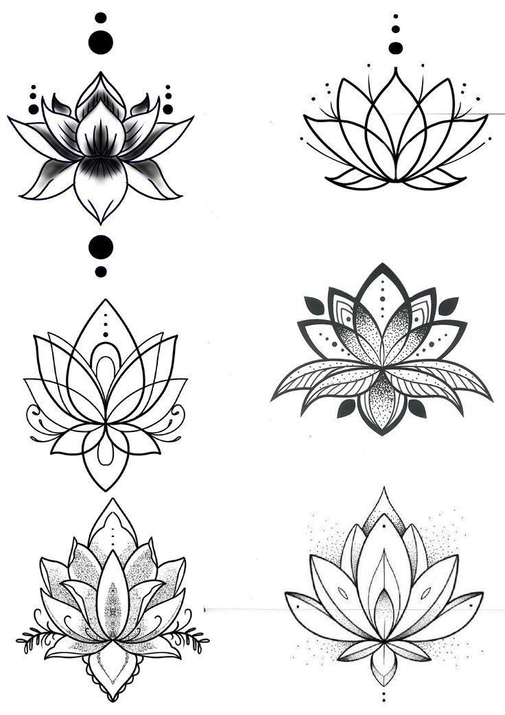 Lotus flower- Fleur de lotus Lotus flower -#anchorandCompassTattooIdeas #Comp...