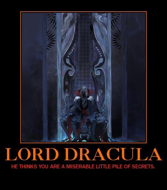 Dracula Castlevania Demotivational Poster by Dbgtinfinite on DeviantArt