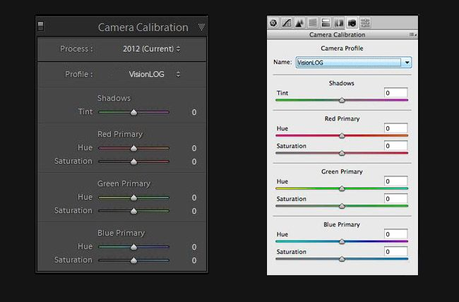 Lightroom camera calibration profiles nikon
