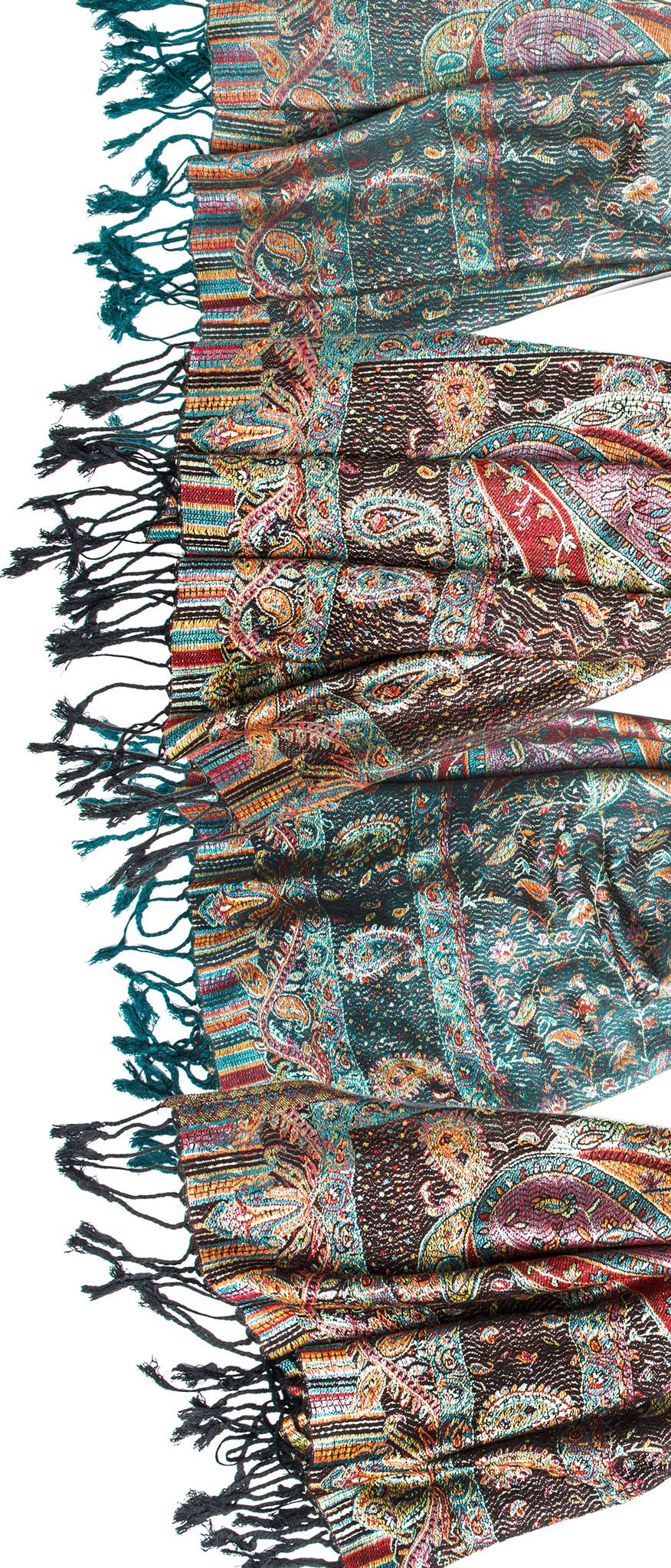 6c60f0966 Scarves - Tiaja Scarf, Pashmina Indian Paisley Traditional Jacquard Scarf - hand  made in India -() Bohomonde - 5